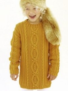 Sublime Extrafine Merino Wool DK Minnie the Giggler Pullover Kit - Baby and Kids Pullovers