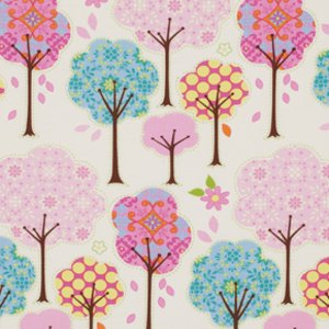 Dena Designs Pretty Little Things Fabric - Trees - Cream