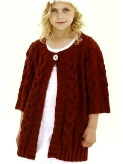 Sublime Extrafine Merino Wool DK The Little Big Cabled Coat Kit - Baby and Kids Cardigans