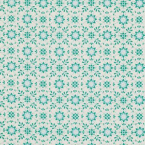Dena Designs Pretty Little Things Fabric - Daisy - Aqua
