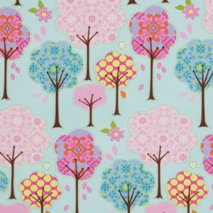 Dena Designs Pretty Little Things Fabric - Trees - Blue