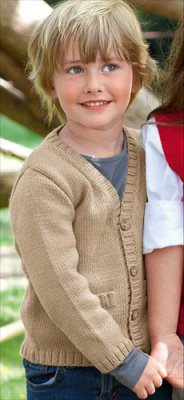 Bergere de France Ideal V Neck Cardigan Kit - Baby and Kids Cardigans