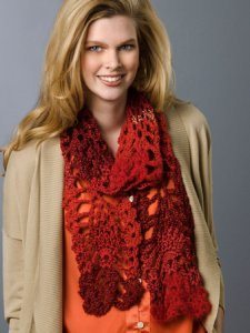 Red Heart Boutique Changes Lacy Pineapple Scarf Kit - Crochet for Adults