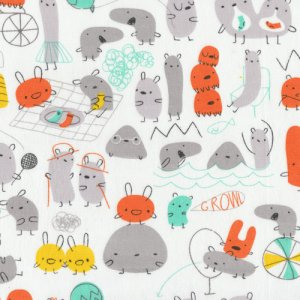 Cloud 9 Fabrics Monsterz Fabric - Monsterz Mash - Orange