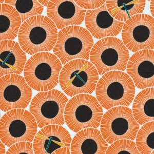 Cloud 9 Fabrics Across the Pond Fabric - Aster - Pumpkin