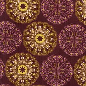 Tina Givens Star Flakes and Glitter Fabric - Doily - Plum