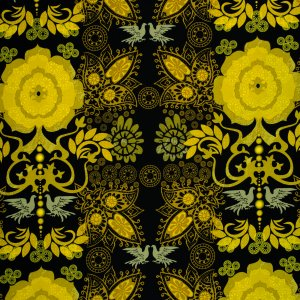 Ty Pennington Impressions Fabric - Revelation - Black