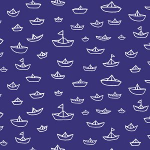 Cloud 9 Fabrics Seven Seas Fabric - The Fleet - Navy