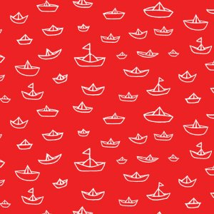 Cloud 9 Fabrics Seven Seas Fabric - The Fleet - Red