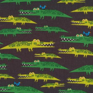 Cloud 9 Fabrics Happy Drawing Fabric - Alligators