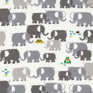 Cloud 9 Fabrics Happy Drawing Fabric - Elephants