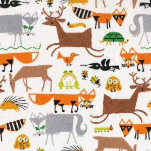 Cloud 9 Fabrics Happy Drawing Fabric - Forest Friends