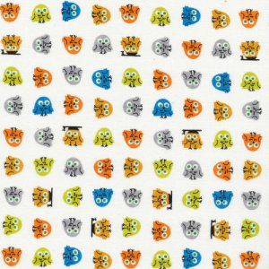 Cloud 9 Fabrics Happy Drawing Fabric - Owls