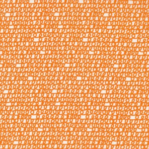 Cloud 9 Fabrics Happy Drawing Fabric - Scribbles - Orange