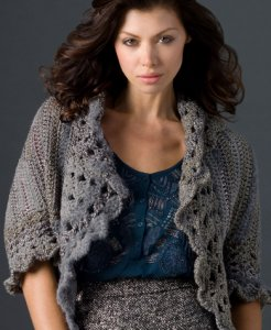 Red Heart Boutique Changes Relaxed Cardi Kit - Crochet for Adults