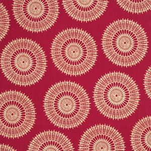 Tina Givens Star Flakes and Glitter Fabric - Stardust - Scarlet