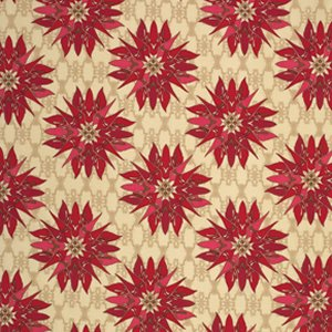 Tina Givens Star Flakes and Glitter Fabric - Poinsettia Snowflake - Scarlet