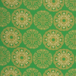 Tina Givens Star Flakes and Glitter Fabric - Doily - Evergreen
