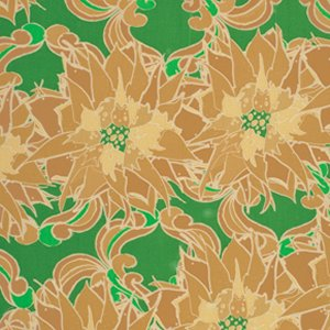 Tina Givens Star Flakes and Glitter Fabric - Poinsettia Run - Evergreen