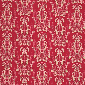 Tina Givens Star Flakes and Glitter Fabric - Candelabrum - Scarlet