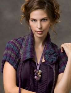Red Heart Boutique Midnight Ribbed Shrug Kit - Women's Cardigans