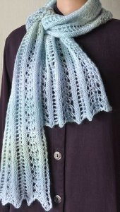 Crystal Palace Mini Mochi Easy Lace Scarf Kit - Scarf and Shawls