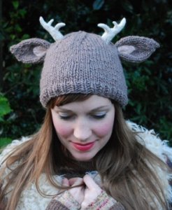 Tiny Owl Knits Patterns - Deer With Antlers Hat Pattern