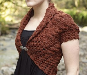 Tiny Owl Knits Patterns - Forest and Frill Shrug Pattern
