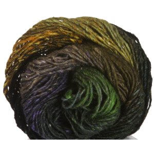 Noro Silk Garden Yarn - 360 Black, Olive, Gold