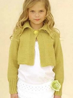 Sublime Cashmere Merino Silk DK Kids' Esme Cardi Kit - Baby and Kids Cardigans