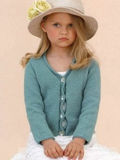 Sublime Cashmere Merino Silk DK Phoebe Sweater Kit - Baby and Kids Cardigans