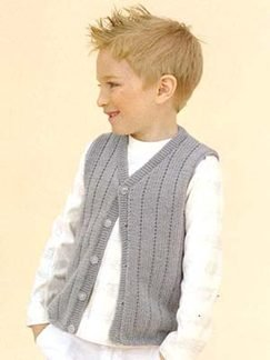 Sublime Cashmere Merino Silk DK Stan the Man Vest Kit - Baby and Kids Vests