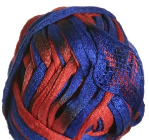 Knitting Fever Flounce Yarn - 24 Blue, Orange (Discontinued)