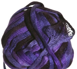 Knitting Fever Flounce Yarn - 27 Black, Violet, Purple