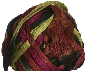 Knitting Fever Flounce Yarn - 38 Gold, Brown, Rust