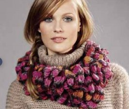 Lana Grossa Condito Ruffled Cowl Kit - Scarf and Shawls