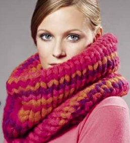 Lana Grossa Big & Easy Colore Tall Cowl Kit - Scarf and Shawls