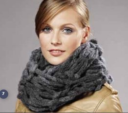 Lana Grossa Big & Easy Colore Fingerknit Cowl Kit - Scarf and Shawls