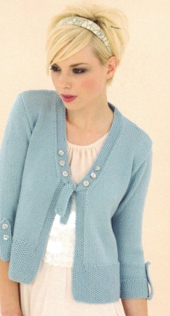 Sublime Cashmere Merino Silk DK Kelly Sweater Kit - Women's Cardigans