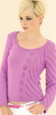 Sublime Cashmere Merino Silk DK Garland Sweater Kit - Women's Pullovers