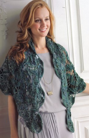Malabrigo Rios Blue Lagoon Swirling Hexagon Shawl Kit - Crochet for Adults