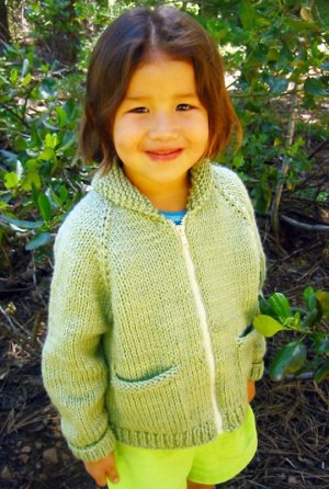 Knitting Pure and Simple Baby & Children Patterns - 0249 - Children's Bulky Neckdown Jacket Pattern