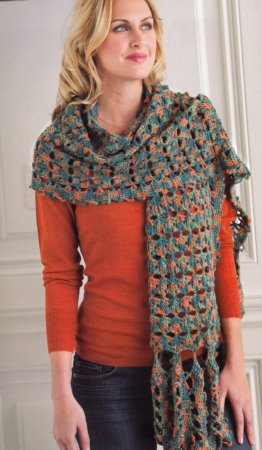 Lorna's Laces Honor Eden Tile Rectangular Wrap Kit - Scarf and Shawls
