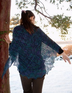 Jade Sapphire Silk/Cashmere 2-Ply Ojo de Dios Kit - Scarf and Shawls