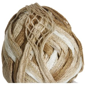 Knitting Fever Tricor Lux Yarn - 30 - White, Tan