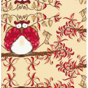 Tina Givens Opal Owl Fabric