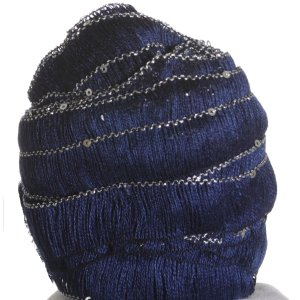Euro Yarns Starstruck Yarn - 8 - Navy with Silver