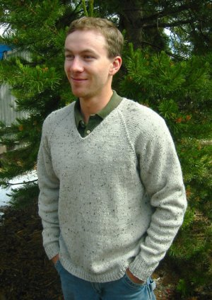 Knitting Pure and Simple Men's Sweater Patterns - 247 - V Neckdown Pullover for Men Pattern