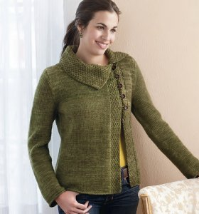 Malabrigo Twist Albero Cowl Jacket Kit - Women's Cardigans