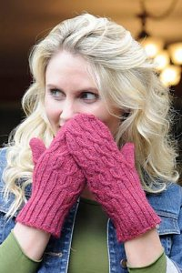 Blue Sky Alpaca Melange Offset Cable Mittens Kit - Hats and Gloves